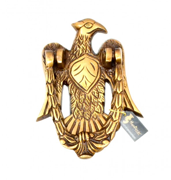 Vintage Eagle Design Brass Door Knocker