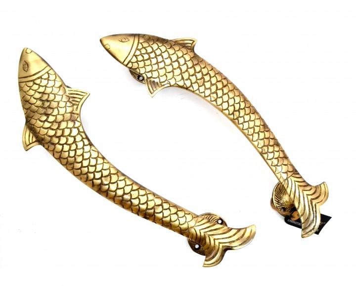 Dolphin Design Door Handle Pair