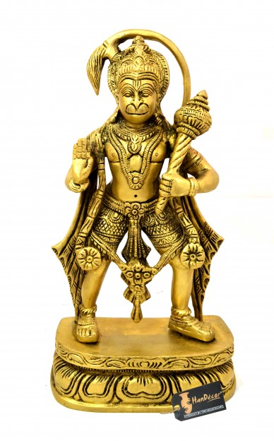 Mahabali Hanuman 12 inches Brass Statue