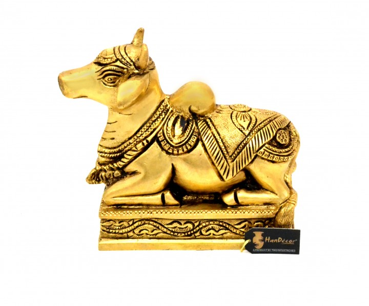Handcrafted Premium Brass Nandi Statue
