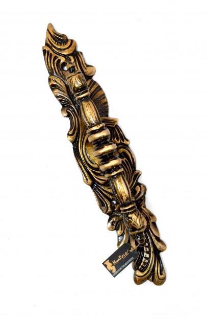 Ethnic Indian Carved Brass Door Handle