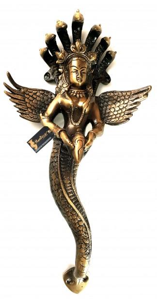 Nag Kanya with Shankh Brass Door Handle