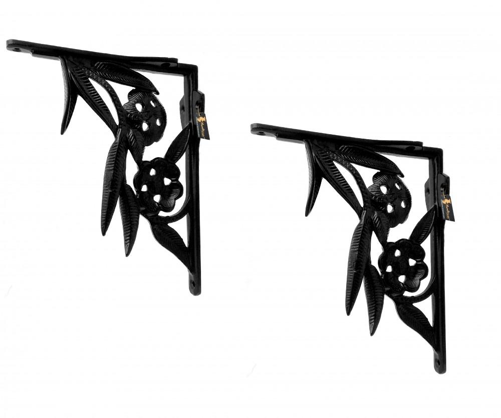 Flower Design Bracket for Wall Shelves - Set of 2