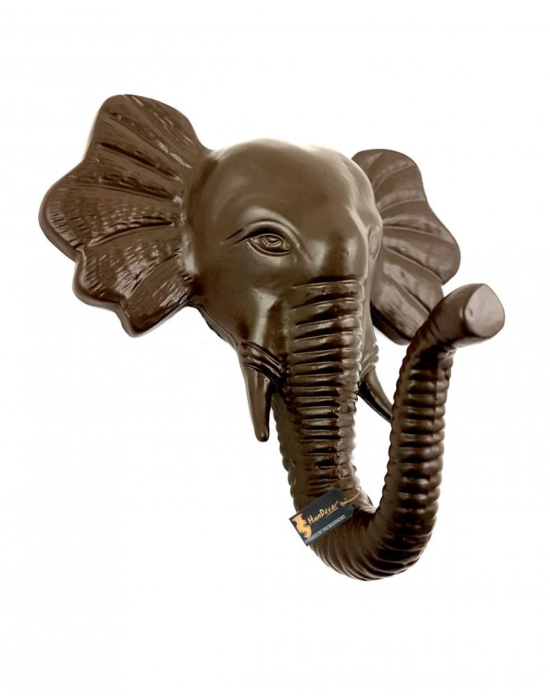 Metal Standing Elephant Shape Single Wall Figurine Hook