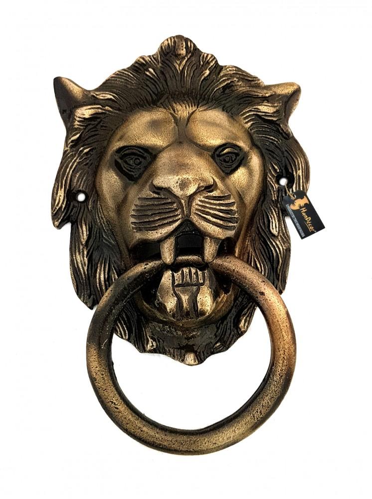 Lion Design Door Knocker - Antique Brown