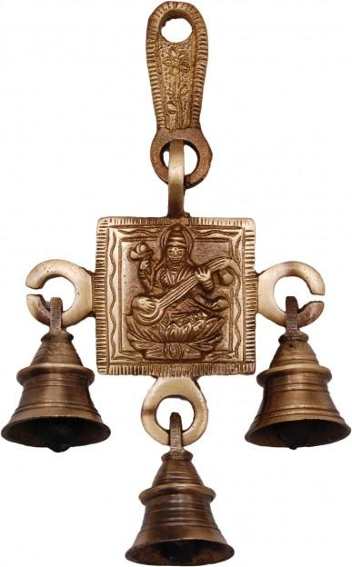 Brass Saraswati Hanging Bells