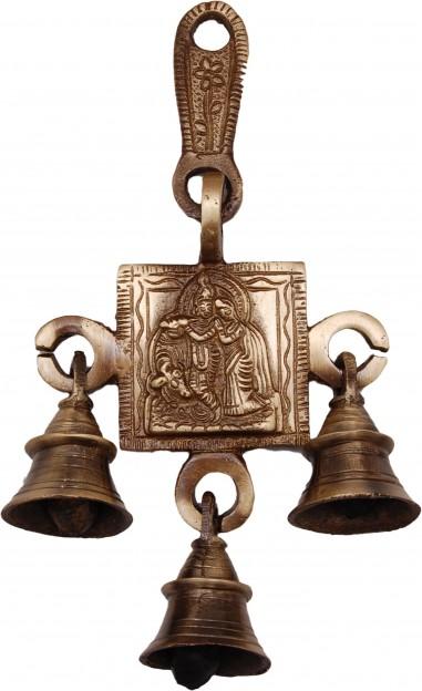 Brass Radha Krishna Hanging Bells