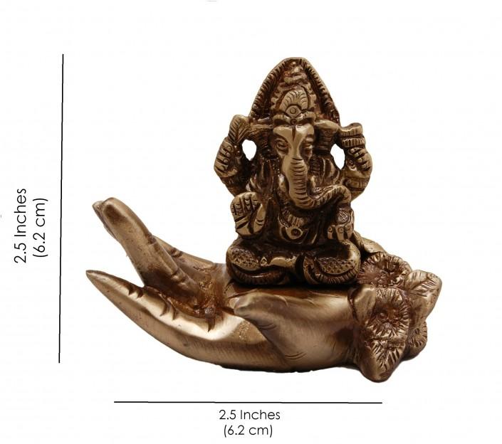 Brass Ganesha on Palm