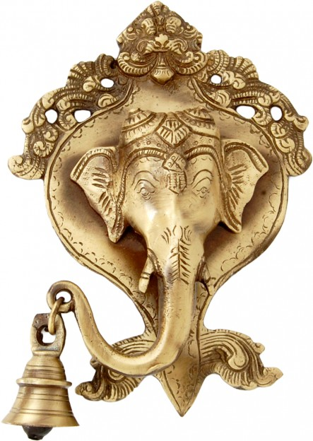 Ganesh Face wall Hanging with bell - Designer