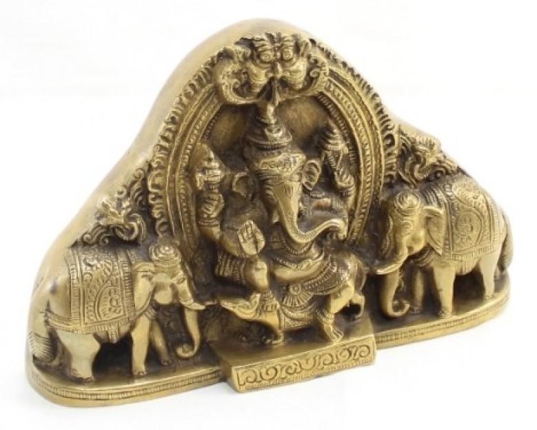 Gaja Ganesha idol - Lord Ganesha with elephants