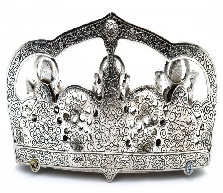 Laxmi Ganesha Saraswati Silver Finished