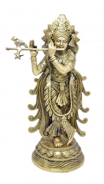 Mormukut Krishna Statue