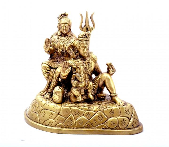 Shiv Parivaar Brass Statue
