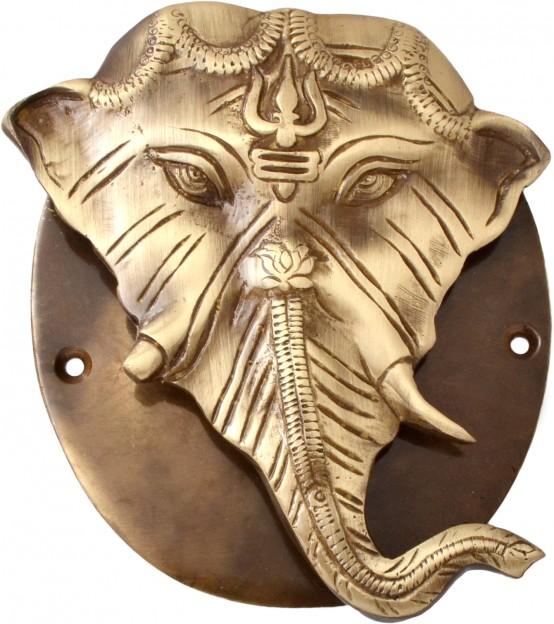 Ganesh Designer Door Knocker With Plate Base