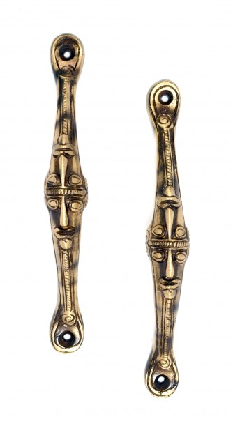 Tribal Face Handle Pair