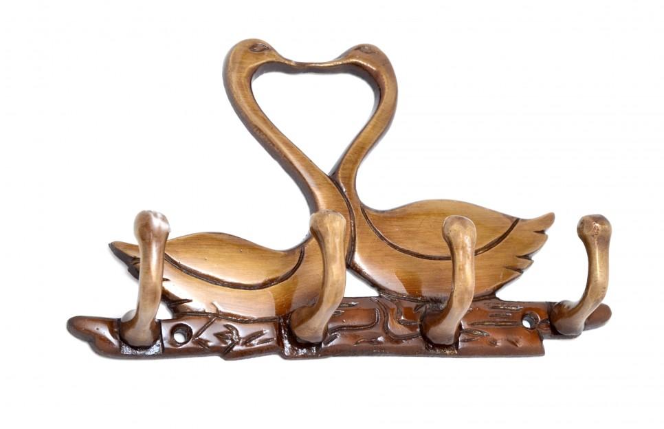Kissing Swan Pair Key Holder