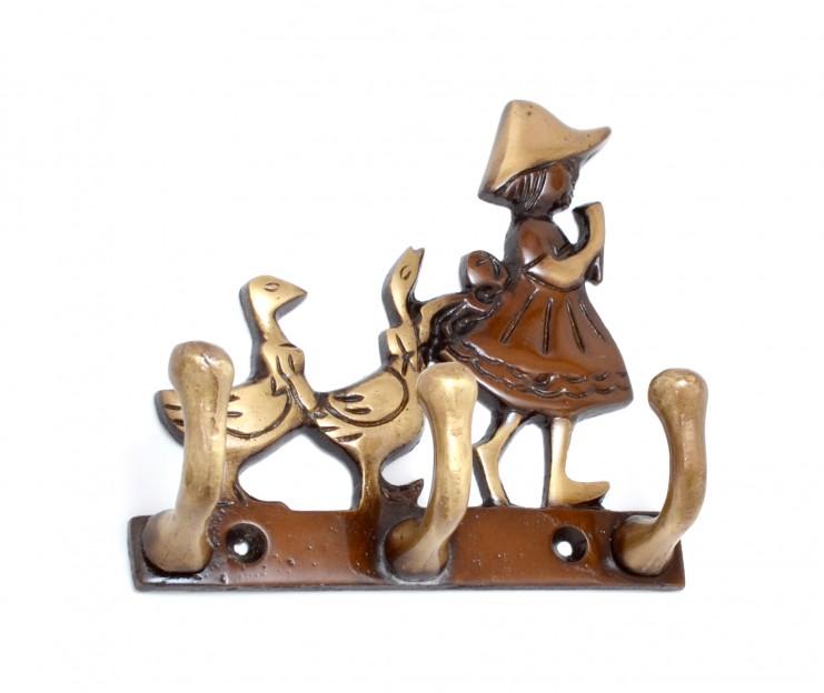 Girl and Ducks Key Holder