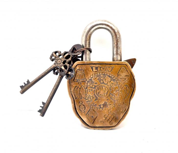 Lion Door Lock Golden
