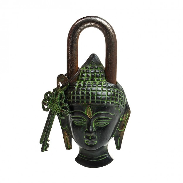 Buddha Door Lock Brown