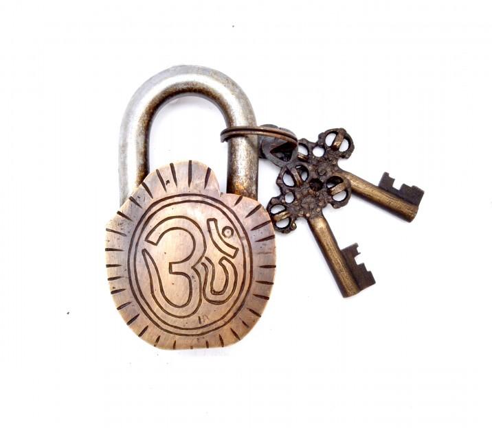 Ganesha Curved Design Door Lock Golden