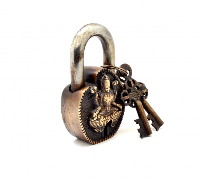 Laxmi Curved Design Door Lock Golden