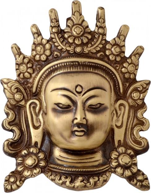Brass Tara Devi Face Wall Hanging