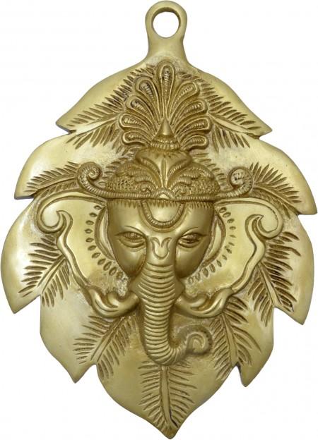 Ganesha Face On Leaf