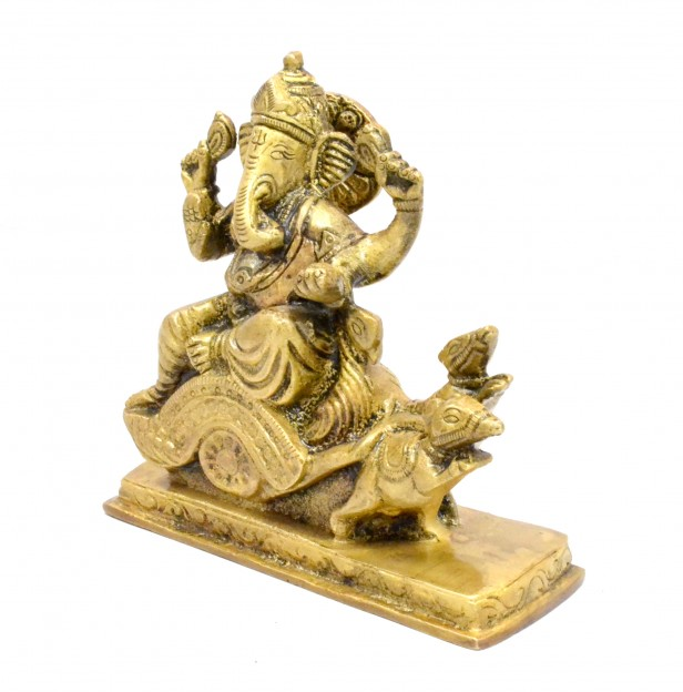 Ganesha on Rath Antique Yellow