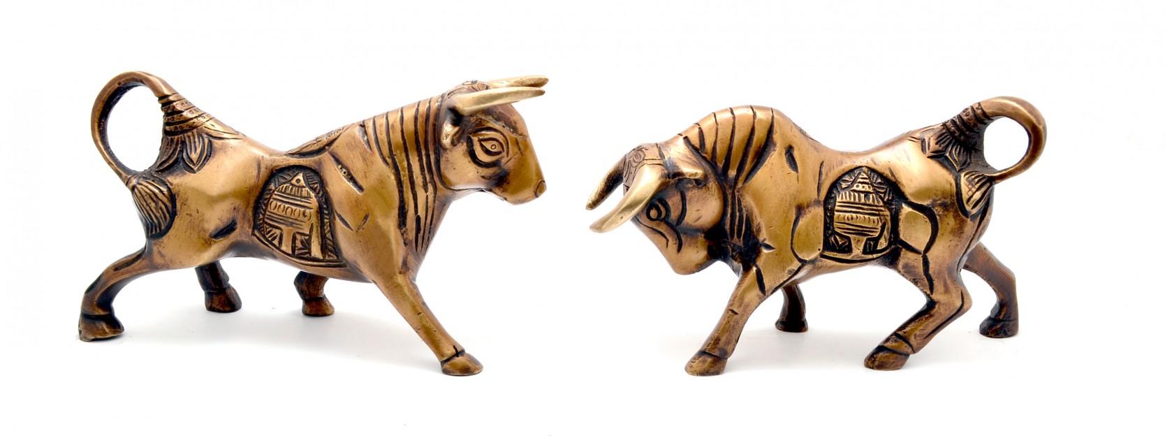 Fighting Bulls Pair Showpiece