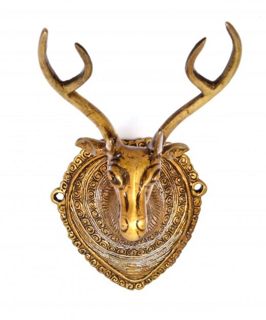Vintage Deer Head Wall Hanging