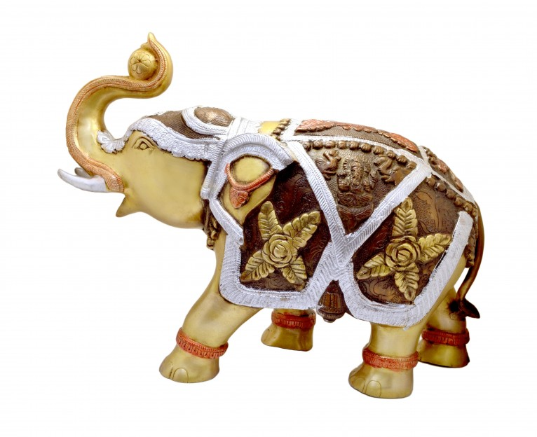 Brass Elephant 15 Inches Showpiece