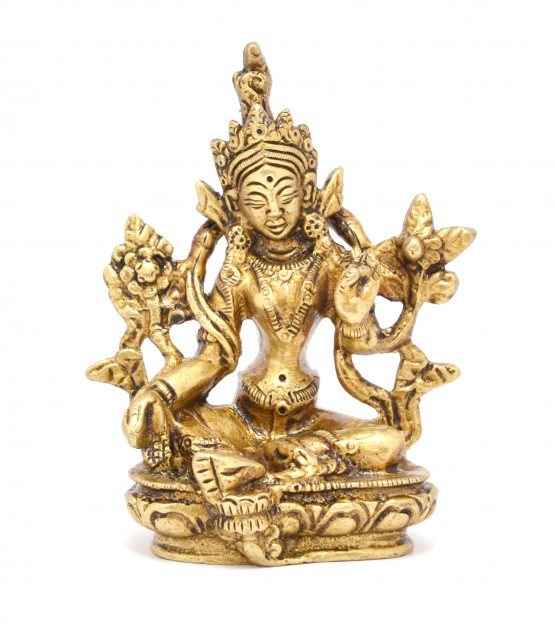 Tara Devi Sitting Brass Idol