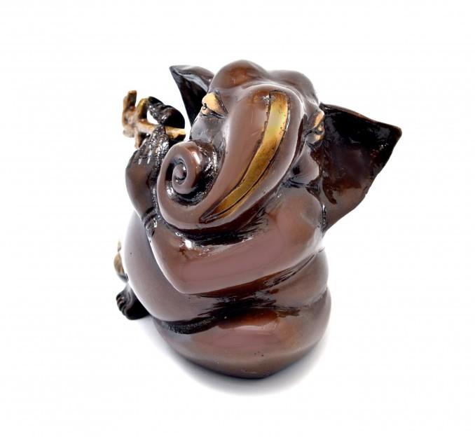Murli Ganesha Showpiece - Brown