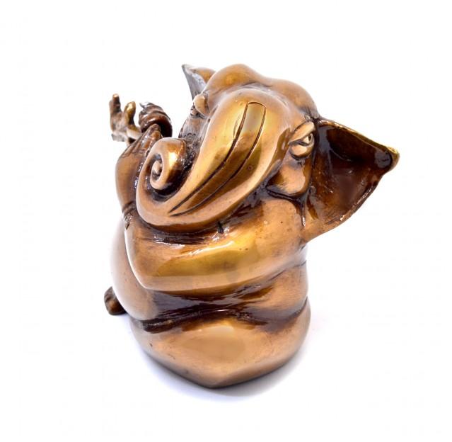 Murli Ganesha Showpiece - Golden