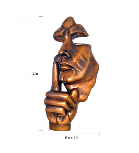 The Silent Man Wall Hanging Showpiece - Brown