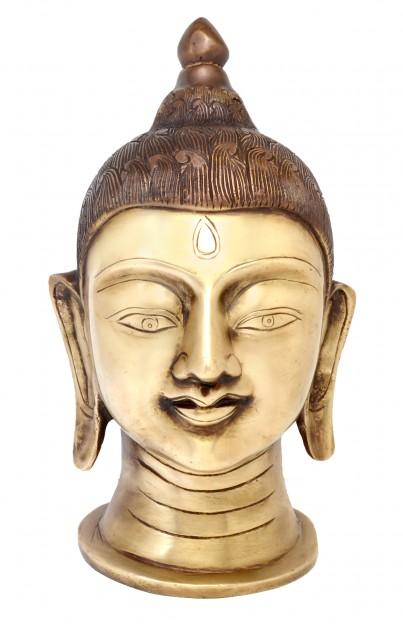 Divine Buddha Head Showpiece - Brown