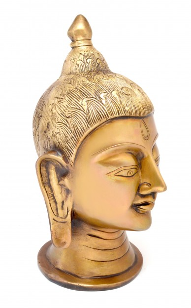 Divine Buddha Head Showpiece - Golden
