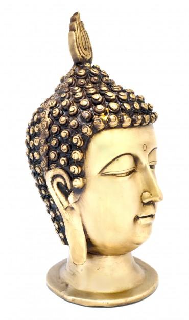Calm Buddha Head Showpiece - Golden