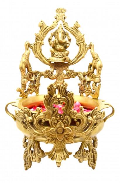 Handcrafted Ganesha Design Elephant Urli