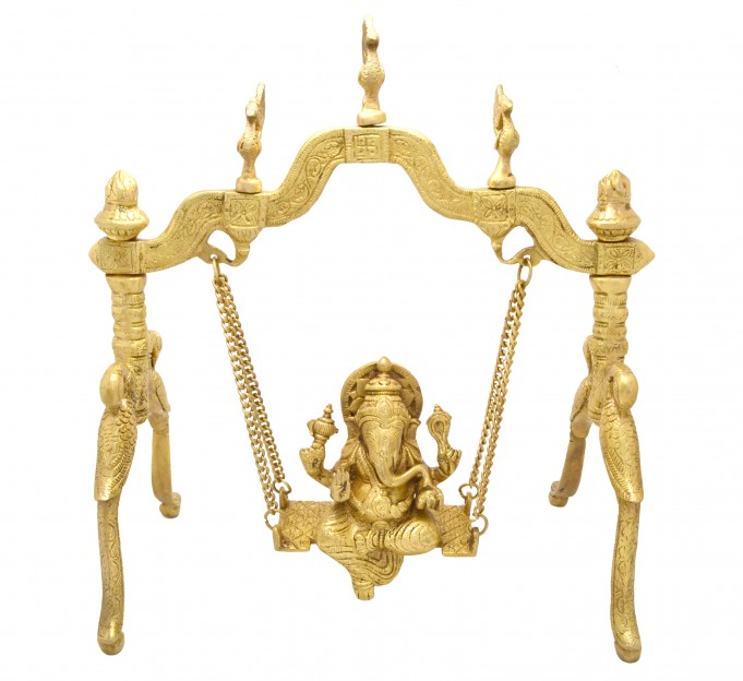Ganesha Swing on Peacock Stand