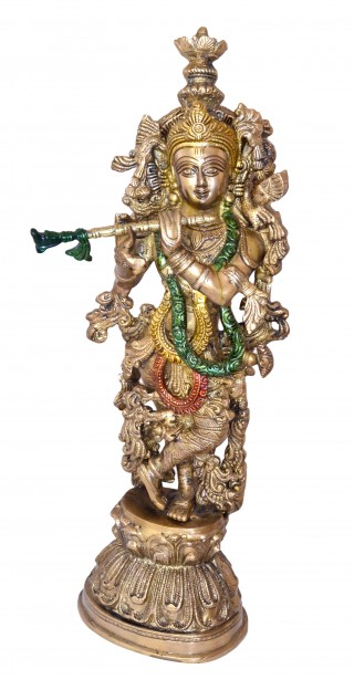 Murli Krishna Statue Multicolored
