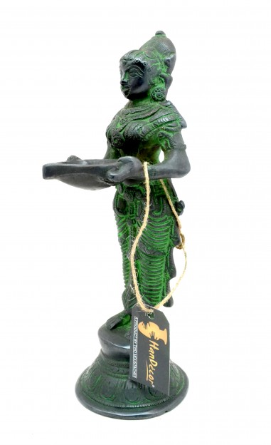 Brass Deeplaxmi Statue 9 Inches