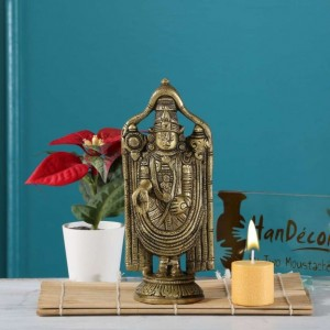 Balaji 7.5 Inches Round Base Brass Statue
