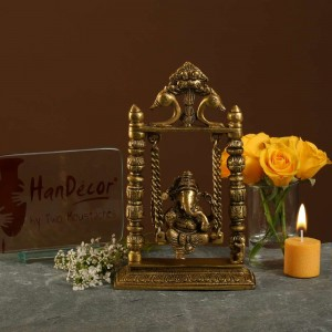 Ganesh on Jhoola Antique Yellow