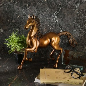 Horse Showpiece - Golden