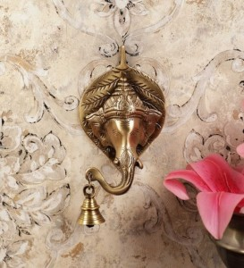Ganesh Face wall Hanging with bell - Custom