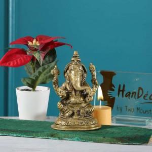 5 Inches Aashirwaad Ganesha Brass Statue