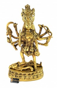 Brass Kali MATA Statue - 7.5 Inches