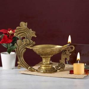 Carved Handle Pooja Oil Diya
