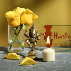 Brass Dancing Ganesha Showpiece